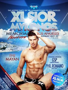 """DJ Phil Romano (Barcelona) - """"MASTERBEAT presents: XLSIOR MYKONOS WORLD TOUR - MEMORIAL DAY WEEKEND @ THE MAYAN in LOS ANGELES (Official Pre-Party)"""" - Sunday May 25th!"""" (click below)!  Go now to: http://www.gregbyng.com/Home.aspx"""