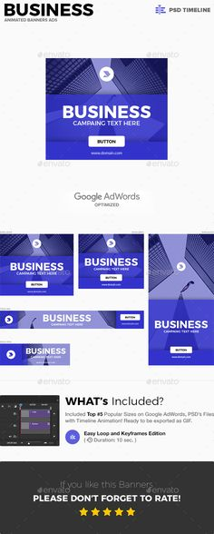 Business Web Banners Template PSD #design #ads Download   - advertising timeline template
