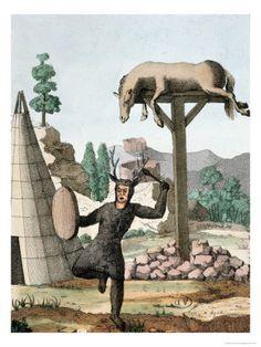 Siberian Tartar Shaman and Burial Ground, c.1811