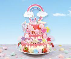 Zelf versieren eenhoorn unicorn dripcake Jaba, Food Porn, Birthday Cake, Desserts, Bavarian Cream, Seeds, Tailgate Desserts, Deserts, Birthday Cakes
