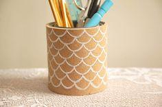 Cork Pencil Holder | The Ruche Blog | #diy