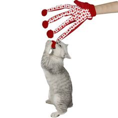 Lovely Scratch Glove Toy - Red Colour