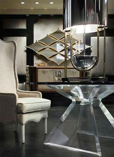 Зеркало в интерьере: 14 способов отражения своего уникального стиля http://happymodern.ru/blizhnee-zazerkale-14-sposobov-primeneniya-zerkal-v-domashnem-interere/ Очарование стиля фьюжн в дизайне интерьера комнаты, где центр внимания - зеркала изысканной формы в тонком золотом обрамлении