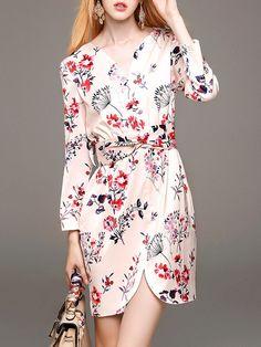 739db97444413 Printed Silk-blend Mini Dress