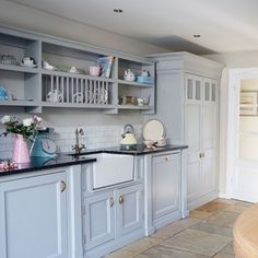Blue country kitchen cabinets light blue kitchens inside best blue country kitchen ideas on modern country . Cottage Kitchen Cabinets, Cottage Kitchens, Home Kitchens, Kitchen Paint, New Kitchen, Kitchen Decor, Kitchen Ideas, Family Kitchen, Mint Kitchen
