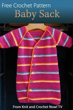 Crochet Pattern Central Baby Hats : CROCHETED BABY SACK ? CROCHET PATTERNS