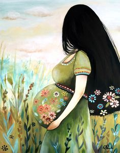 claudia tremblay - The Midwife - schwangere frau Claudia Tremblay, Birth Art, Mode Poster, Pregnancy Art, Pregnancy Info, Pregnancy Photos, Art Africain, Mother And Child, Oeuvre D'art