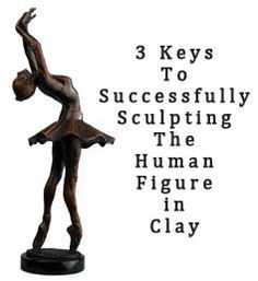 Important steps for sculpting the figure in clay.