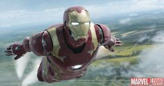 Iron Man (Robert Downey Jr.) takes to the skies in Marvel's 'Captain America: Civil War.'