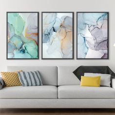 Give any open wall in your home a tasteful touch of glamour with this painting print. This canvas showcases an abstract design with light watercolors to offer any room in your home a fresh new look. Canvas Prints Canvas prints are a fun and easy way to add a personal touch to your living space. Shop our unstretched canvas prints for local custom framing. This allows you to frame or hang your print to your own specifications. Packaging, Material and Size Canvas prints do not include a stretcher b Ocean Canvas, Beach Canvas, Watercolor Canvas, Abstract Canvas, Abstract Paintings, Painting Prints, Canvas Prints, Canvas Artwork, Canvas Frame