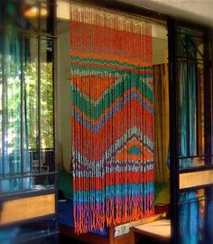 The Aztek bead curtain is an Intricate Design curtain and is inspired by the geometric aesthetic of the Aztecs. The SeaBlueGreen Aztek bead curtain is a combination of small oval transparent glass beads in sea blue, sea green and white. Cool Stuff, Bohemian Decor, Bohemian Style, Beaded Door Curtains, Boho Curtains, Indian Curtains, Closet Curtains, Door Beads, Hanging Beads