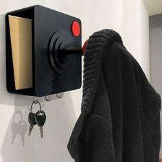 Joystick porte clés et manteaux - retro atari joystick hook and shelf - perfect gift for any gamer geek!