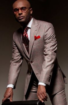 Perfectly dressed man