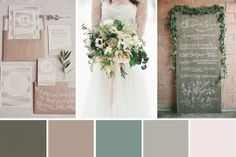 Natural Elegance - A Beautiful Rustic Wedding Palette | OneFabDay.com Ireland