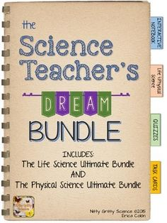 Two years worth of Science Interactive Notebook activities - Life AND Physical Science with 1000 Task Cards to boot!!