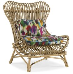 Berber.Kammlah for E.J.Victor  incredible rattan chair.  the wingback goes beach-side in this perfect indoor-outdoor occasional chair.