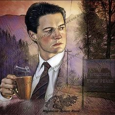 I also made a #twinpeaks illustration, another #greatseries #comingsoon  and retouched with colour to sell products and prints. #tvseries #drawings #movie #arte #films #cine #love #art #prints #instaarte #instaart #illustration #retrato #picoftheday #portrait #sketch #sketchaday #davidlynch #face #instagood #lovefilm #firewalkwithme #coffee  #artcollector #kylemaclachlan #dibujos #spokeart