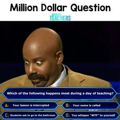 question Funny Teacher Memes, perfect for back to school. Share with your favorite teachers. dollar question Funny Teacher Memes, perfect for back to school. Share with your favorite teachers. 161496336625210329 Memes for First Day of School Classroo Teacher Hacks, Teacher Jokes, Best Teacher, School Teacher, Funny Teacher Quotes, Teacher Stuff, School School, Dating Humor, Teacher Comments