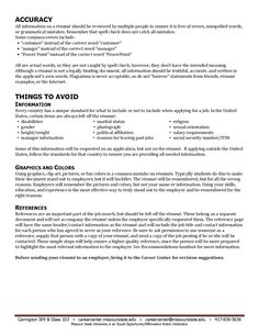 Page 4 Resume Tips