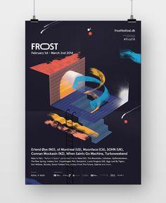 Poster design // FROST is een muziekfestival dat sinds 2011 ieder jaar gedurende de maand Februari op verschillende locaties in Copenhagen plaatsvindt.
