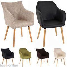 ESSZIMMERSTUHL MIT ARMLEHNE SESSEL ESSZIMMER STÜHLE STUHL GEPOLSTERT RETRO RIKKA in Möbel & Wohnen, Möbel, Sofas & Sessel | eBay