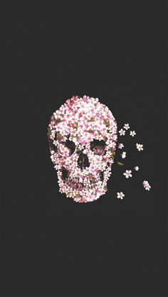iPhone 5 Wallpapers: Photo skull, flowers http://iphonetokok-infinity.hu http://galaxytokok-infinity.hu http://htctokok-infinity.hu: