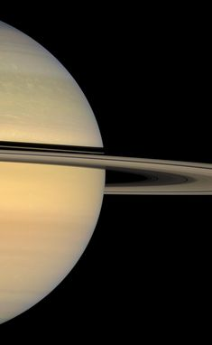 The Cassini spacecraft looks toward the sunlit face of Saturn's rings