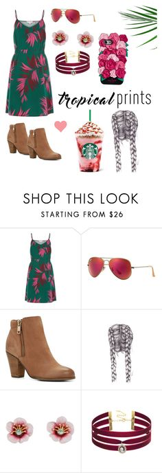 """""""Tropical Prints"""" by osherman7103 ❤ liked on Polyvore featuring Ray-Ban, ALDO, Les Néréides, Taolei and Kate Spade"""