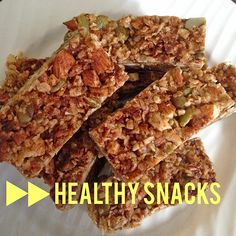 The perfect healthy breakfast or snack! Find the recipe on our blog.  www.chelseacrescent.ca #health #cleaneating #nutrition #cleaneats #lifestyle #healthy #paleo #vegan #vegetarian #breakfast #snack #bars #food #instafood Vegetarian Breakfast, Vegan Vegetarian, Healthy Snacks, Clean Eating, Nutrition, Lifestyle, Recipes, Blog, Eat Healthy