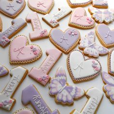 First Birthday Cookies, Baby Girl First Birthday, First Birthday Parties, Birthday Ideas, Butterfly 1st Birthday, Butterfly Party, Purple Cookies, Baptism Cookies, Butterfly Cookies