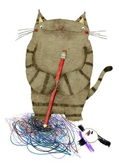 """.This is truly """"cat art"""""""