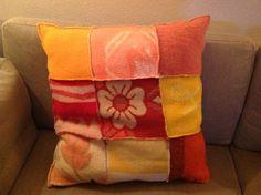 Kussen van oude wollen deken vintage blanket