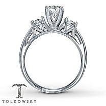 Tolkowsky® 14K Gold 1¼ Carat t.w. Diamond Engagement Ring