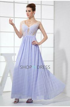 A-line Chiffon V-neck Prom Dress