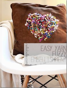 Easy Yarn Embellishment. No-sew, simple, and fast!