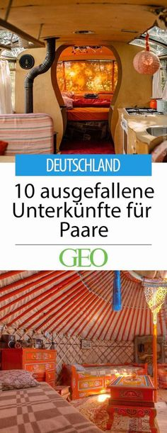 Deutschland: Zehn ausgefallene Unterkünfte für Paare If you want to escape everyday life with your partner, you are often looking for that certain something. We have found unusual accommodations all over Germany that will make lovers' hearts beat faster Places In Europe, Europe Destinations, Holiday Destinations, Places To Go, Travel Couple, Family Travel, Voyage Europe, Travel Goals, Romantic Travel