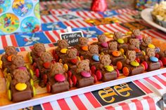 Tiny Teddy Cars // Surely we have all made these for a party? They are such a winner at any age. #kidscakes #partyideas