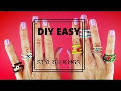 (1) 2 EASY DIY RINGS | Adjustable Wire and Beads Rings| Beginner's Crafts|Kids Crafts - YouTube