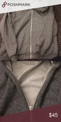 American Apparel Grey Hoodie Worn only a couple of times American Apparel Jackets & Coats