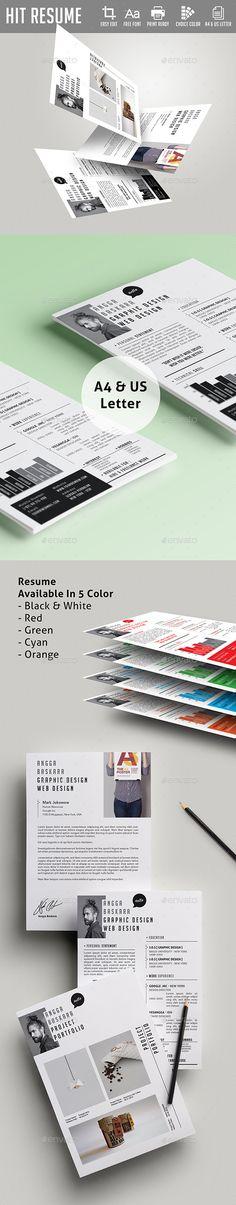 Job Resume CV \ Cover Letter PSD Set by ZippyPixels on - how to set a resume
