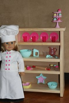 MADE Pieces For Reese Dining Room Hutch Plans 18 Doll