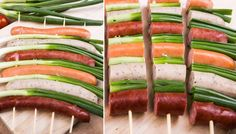 Sausages on a spit are among the classics on the grill. If not there - Grillen Grill Party, Bbq Party, Party Snacks, Grilling Recipes, Cooking Recipes, Vegetarian Recipes, Grill N Chill, Bbq Bacon, Campfire Food