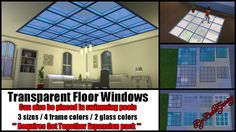 Sims 4 CC's - The Best: Transparent Floor Windows by Bakie