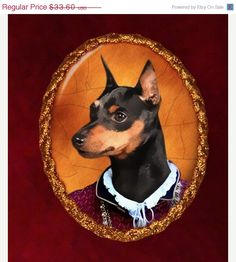 Miniature Pinscher Jewelry Brooch Handcrafted by NobilityDogs, $26.88