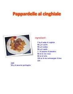 pappardelle al cinghiale 1E Alberghiero - Presentazione RICETTA - Community - Google+