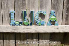 Custom Nursery Wooden Letters Baby Nursery by WanderlustbyAlissa
