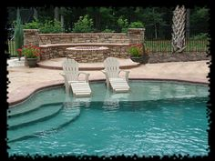 Swimming pool builders can help you from beginning to finish during the building procedure. It's a fact that inground pools can be immensely costly and are normally in the backyard of a big a pricey residence. It's exciting to have your own pool. Luxury Swimming Pools, Dream Pools, Outdoor Spaces, Outdoor Living, Outdoor Kitchens, Living Pool, My Pool, Pool Fun, Pool Builders