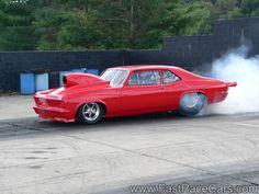 drag race burn outs | Drag race cars novas picture of red nova drag car doing burnout
