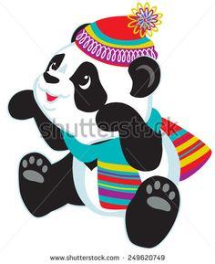 cartoon panda bear for babies and little kids