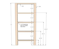Build your own rustic bookshelf with our free plans. Features four large shelves and x detailing on the ends. Step by step plans from Ana White Tall Bookshelves, Rustic Bookshelf, Diy Wood Shelves, Bookshelf Plans, Bookshelf Diy, Large Shelves, Diy Furniture Plans Wood Projects, Easy Wood Projects, Building Furniture